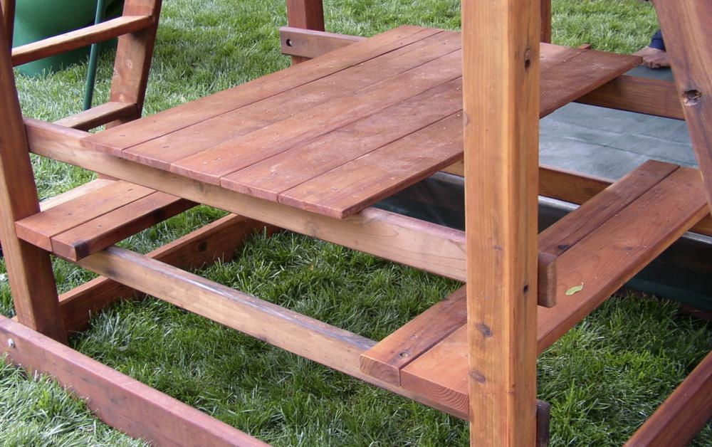 M 8 Redwood Picnic Table